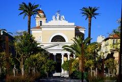 Katolsk kyrka i Nice, Frankrike Arkivbilder