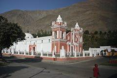 Katolsk kyrka i Peru Arkivbilder