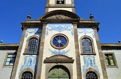 Katolsk kyrka i Porto, Capela de Fradelos, Portugal royaltyfri foto