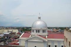 Katolsk kyrka i San Fernando, Filippinerna Arkivfoton