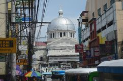 Katolsk kyrka i San Fernando, Filippinerna Arkivbild