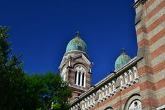 Katolsk kyrka i Tianjin Arkivfoto