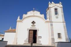Katolsk kyrka i Vila do Bispo Fotografering för Bildbyråer
