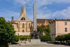 Katolsk kyrka - kyrka av vår dam Slavs i Prague, Tjeckien Royaltyfri Bild