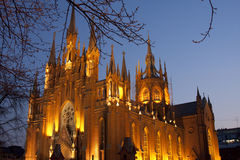 katolsk kyrka moscow Royaltyfria Foton