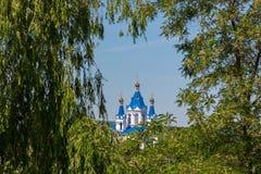 Katolsk kyrka och ortodox kyrka Arkivbilder