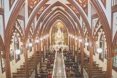 Katolsk kyrka på Cartago Costa Rica Arkivbild