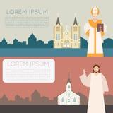 Katolsk kyrkabaner Royaltyfria Foton