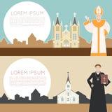 Katolsk kyrkabaner Royaltyfri Fotografi