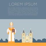 Katolsk kyrkabaner Arkivbilder