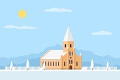 Katolsk kyrkabyggnad Fotografering för Bildbyråer
