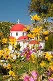 katolsk kyrkacrete greece grek Arkivbilder