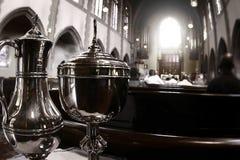 katolsk kyrkafoto Arkivfoto