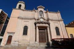 Katolsk kyrkahelgon Francois de Paule Toulon, Frankrike royaltyfri foto