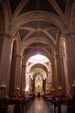 katolsk kyrkainterior Royaltyfria Bilder