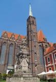 katolsk kyrkapoland wroclaw Royaltyfri Foto