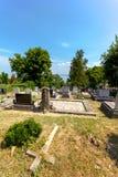 Katolsk kyrkogård i Balatonszepezd/Kekkut, Ungern Arkivfoto