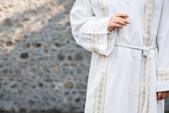 Katolsk nattvardsgång arkivbild