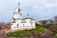 Katolsk ortodox kyrka i Hakodate arkivfoton
