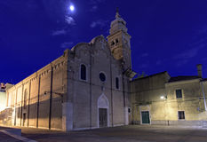 Katolsk tempel Venedig Arkivbild