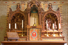 Katolsk träsnideri Royaltyfri Fotografi