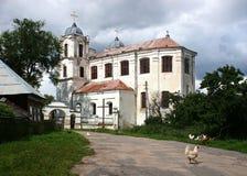 Katolska kyrkan av uppstigningen av den välsignade oskulden Mary som byggs på kloster av Carmelitesen fotografering för bildbyråer