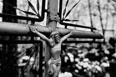 Katolska religiösa symboler Arkivfoton