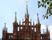 katolskt moscow tempel Arkivfoto
