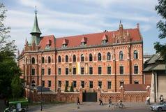 Katolskt seminarium nära den Wawel slotten i Krakow poland Royaltyfria Foton
