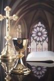 Katolskt tema Katoliken semestrar den —påsken royaltyfri fotografi
