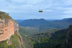 Katoomba Scenic Skyway travels across the gorge above the Katoom Stock Photos