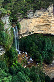 Katoomba tombe en stationnement national NSW de montagnes bleues Image stock
