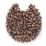 Katoon coffee beans isolated white background. Katoon coffee beans isolated on  white background Royalty Free Stock Photo