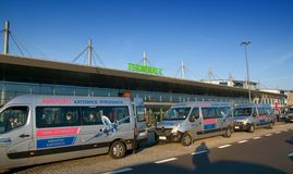 Katowice  Airport concourse - Terminal C - airport shuttle Stock Photo