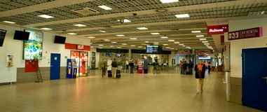 Katowice airport - interior Stock Photos