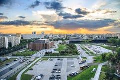 Katowice bei Sonnenuntergang Lizenzfreie Stockfotos