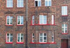 Katowice en Pologne, Nikiszowiec, bâtiments traditionnels et vieux du secteur d'extraction de la Silésie Photo stock