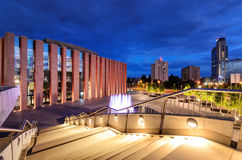 Katowice in the evening. Night city Stock Photography