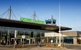 Katowice flygplats - kontrolltorn Arkivbild