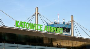 Katowice flygplats - terminal A Royaltyfri Fotografi