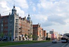 Katowice - Korfant street - Poland Royalty Free Stock Photography