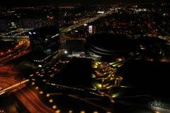 Katowice at night stock image
