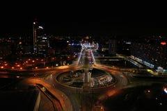 Katowice at night royalty free stock images