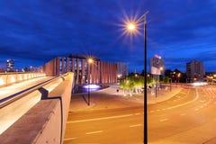 Katowice in the night. Night city. Stock Image