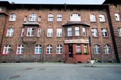 Katowice Nikiszowiec arkivbild