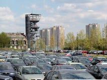 Katowice, parking lot stock image
