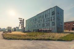 Katowice/paysage industriel le vieux puits de mine Images libres de droits
