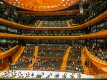 Interior of modern concert hall in Katowice, Poland Royalty Free Stock Photography