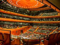 Interior of modern concert hall in Katowice, Poland stock images