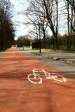 Katowice Poland , Bicycle Path Royalty Free Stock Photo